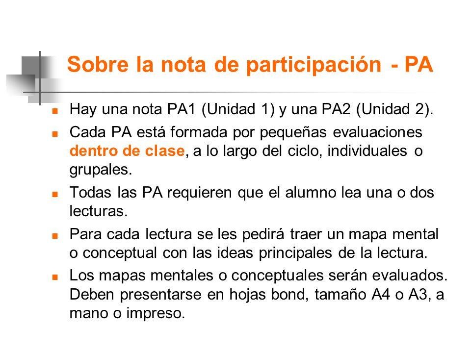 Sobre la nota de participación - PA