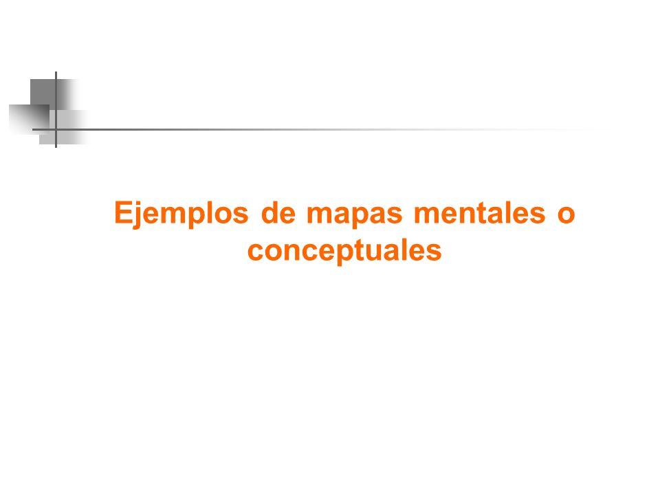 Ejemplos de mapas mentales o conceptuales