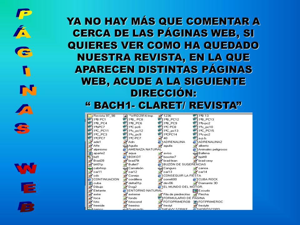 BACH1- CLARET/ REVISTA