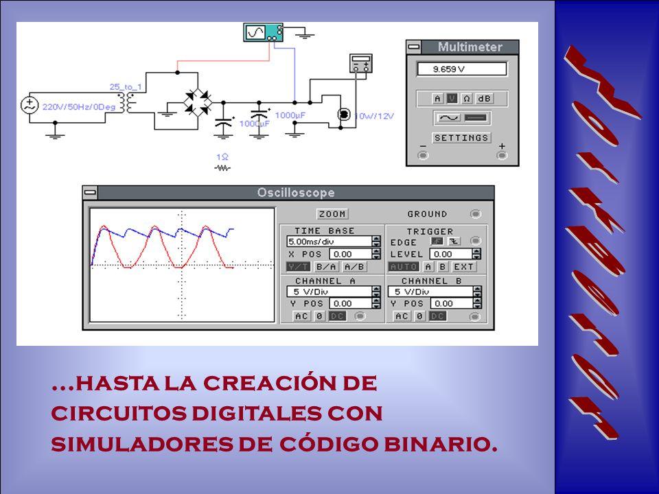 WorkBench ...hasta la creación de circuitos digitales con simuladores de código binario.