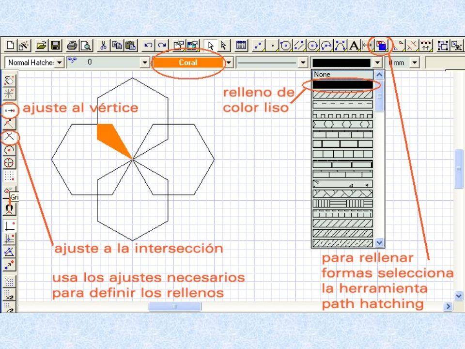 Esta herramienta sirve para dibujar poligonos irregulares rellenos
