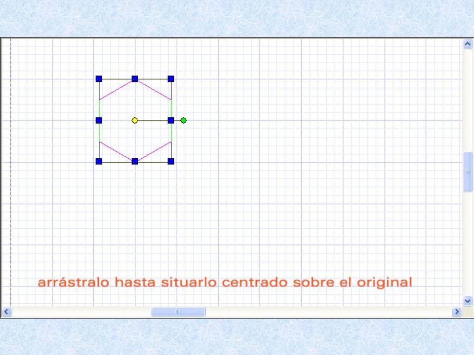 Para mover un objeto seleccionado, arrastra el punto central amarillo