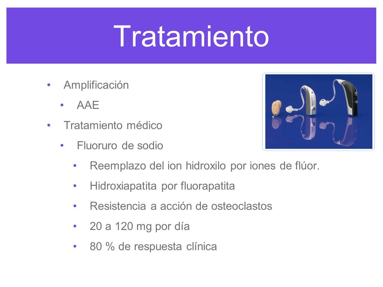 Tratamiento Amplificación AAE Tratamiento médico Fluoruro de sodio