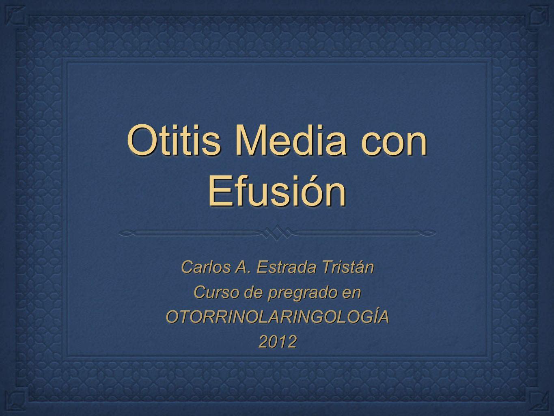 Otitis Media con Efusión