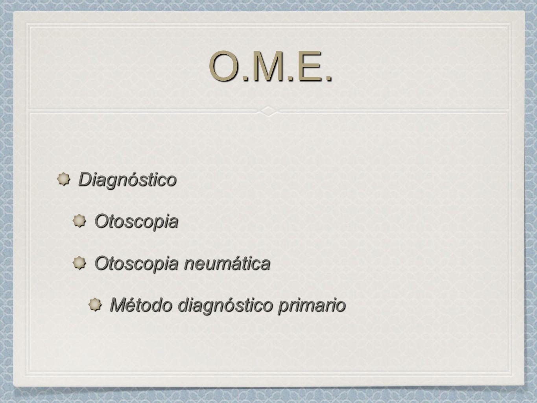O.M.E. Diagnóstico Otoscopia Otoscopia neumática
