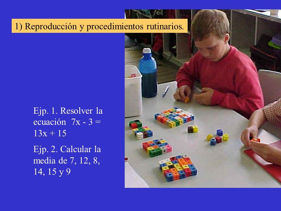 1) Reproducción y procedimientos rutinarios.