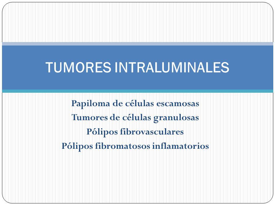 TUMORES INTRALUMINALES