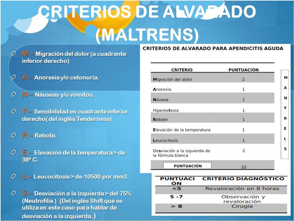 CRITERIOS DE ALVARADO (MALTRENS)