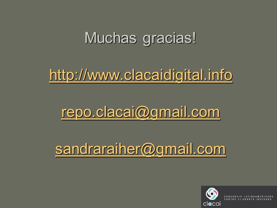 Muchas gracias. http://www. clacaidigital. info repo. clacai@gmail