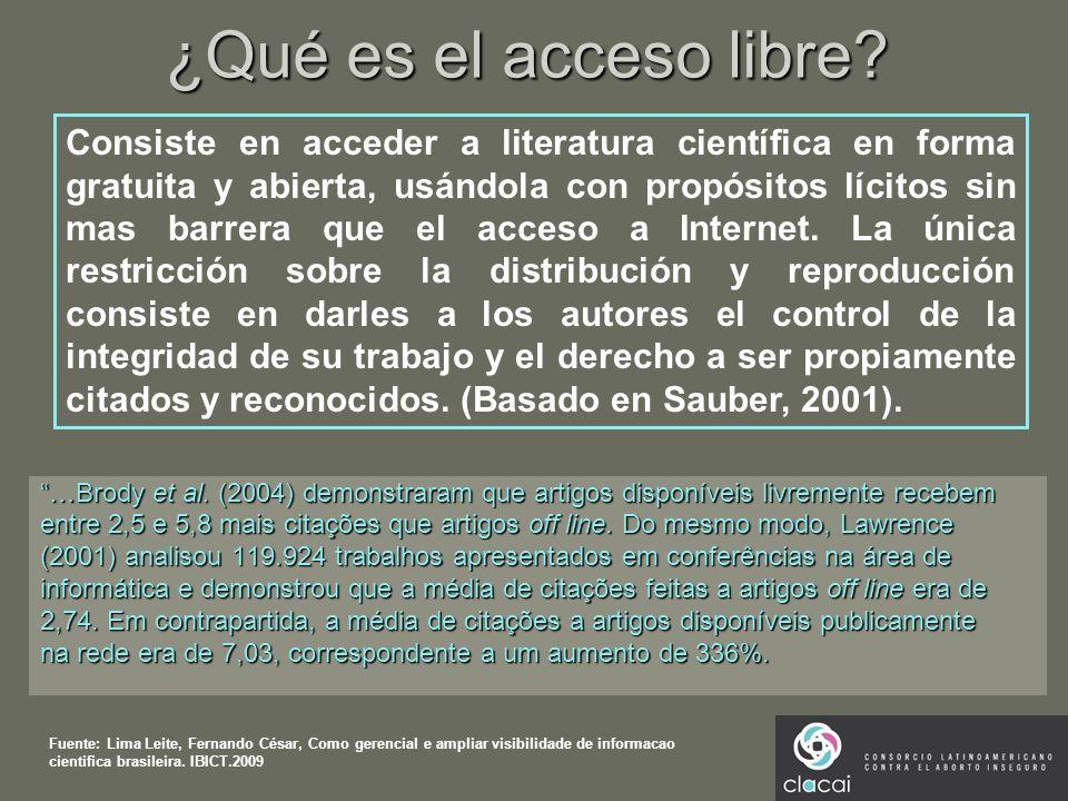 ¿Qué es el acceso libre
