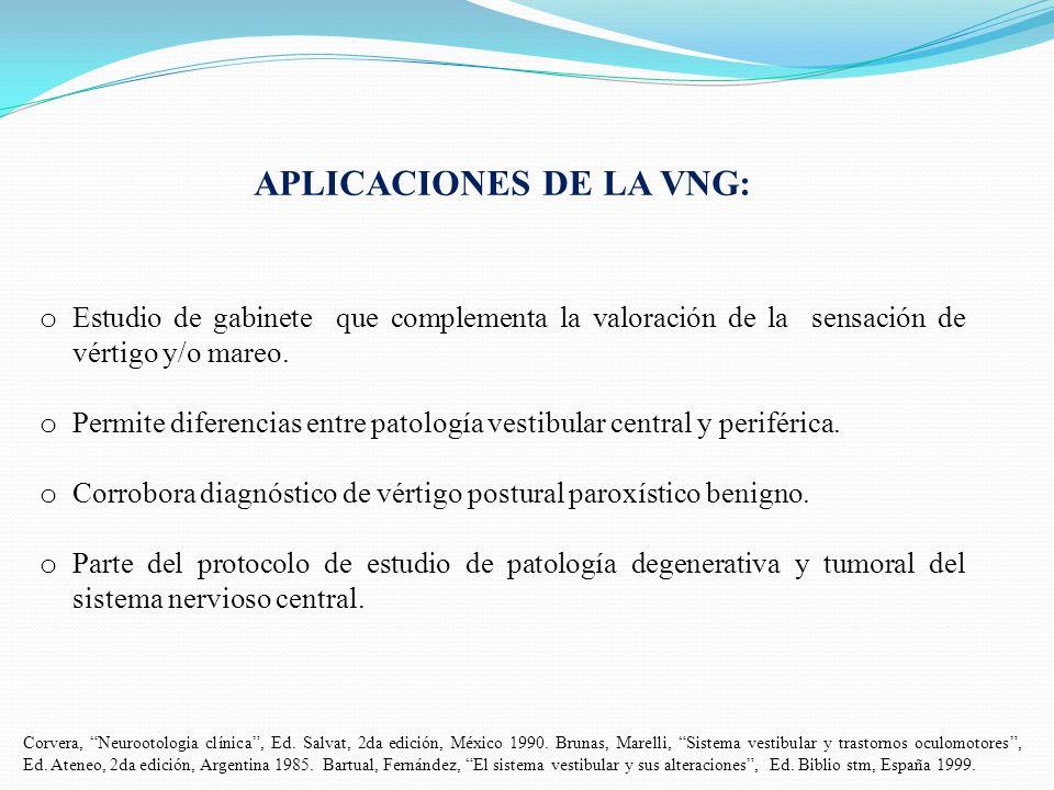 APLICACIONES DE LA VNG: