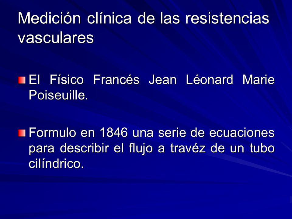 Medición clínica de las resistencias vasculares