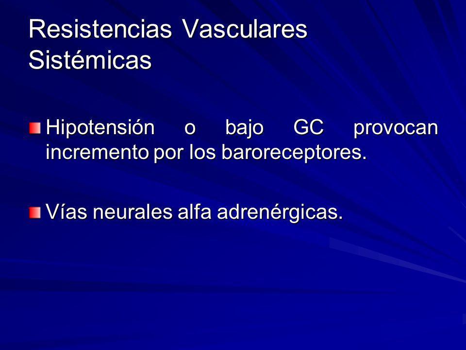 Resistencias Vasculares Sistémicas