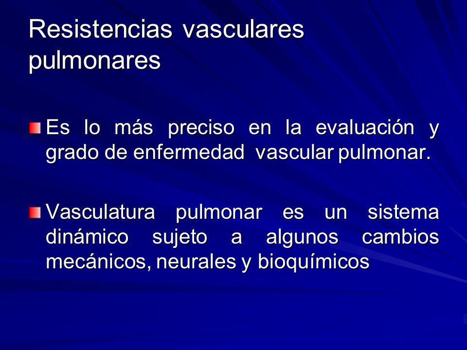 Resistencias vasculares pulmonares