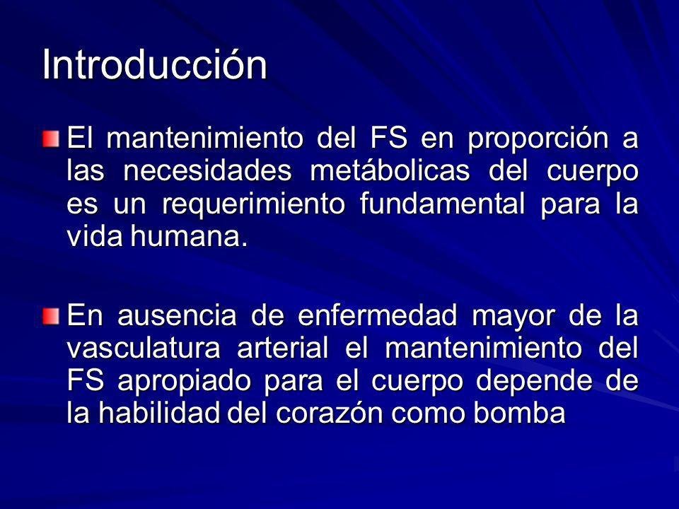 Introducción El mantenimiento del FS en proporción a las necesidades metábolicas del cuerpo es un requerimiento fundamental para la vida humana.