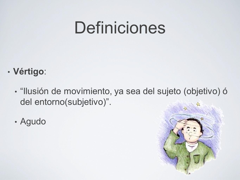 Definiciones Vértigo: