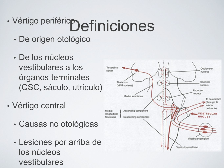 Definiciones Vértigo periférico De origen otológico