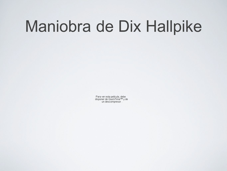 Maniobra de Dix Hallpike