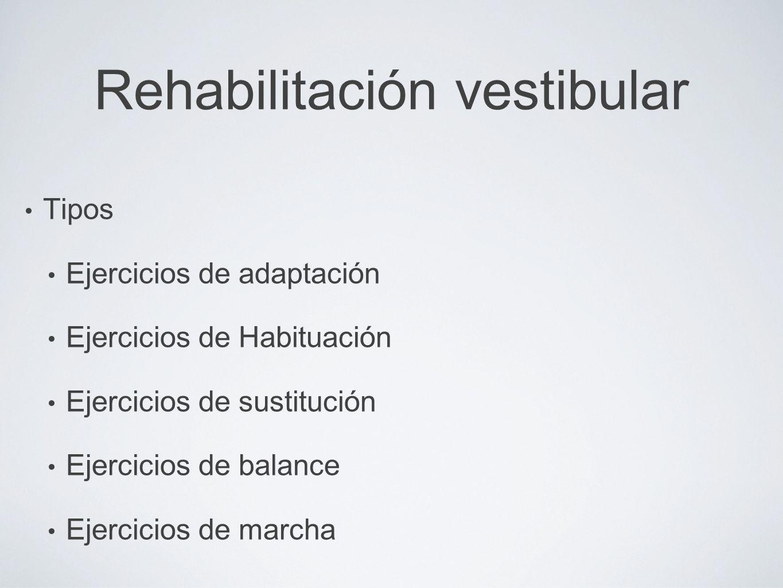 Rehabilitación vestibular
