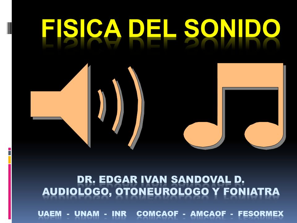 FISICA DEL SONIDO DR. EDGAR IVAN SANDOVAL D