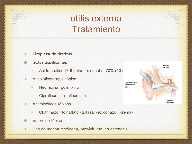 otitis externa Tratamiento