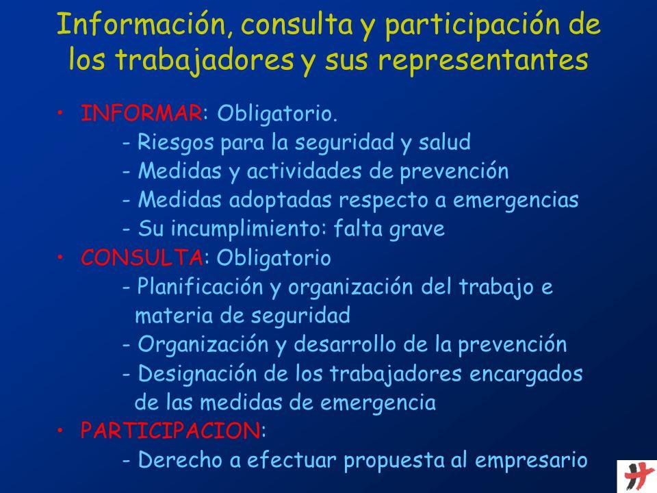 Información, consulta y participación de los trabajadores y sus representantes