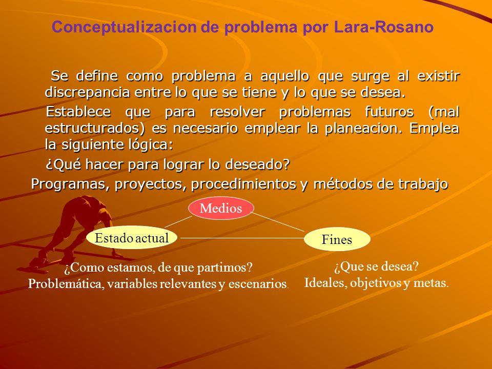 Conceptualizacion de problema por Lara-Rosano
