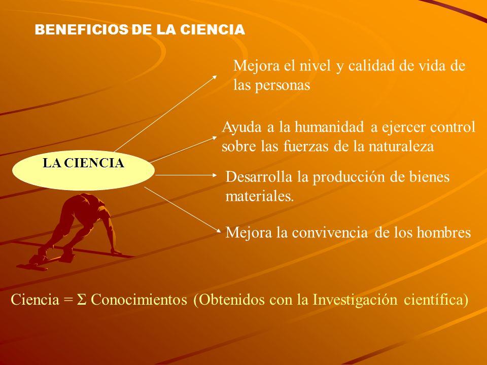 BENEFICIOS DE LA CIENCIA
