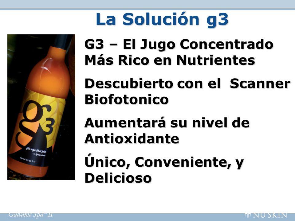 La Solución g3 G3 – El Jugo Concentrado Más Rico en Nutrientes