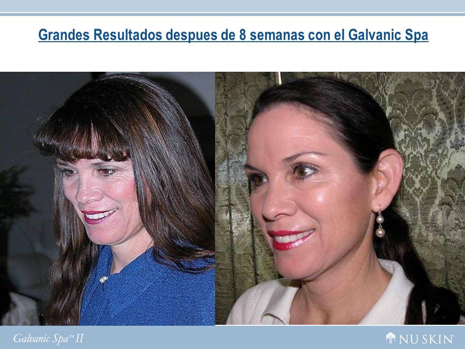 Grandes Resultados despues de 8 semanas con el Galvanic Spa
