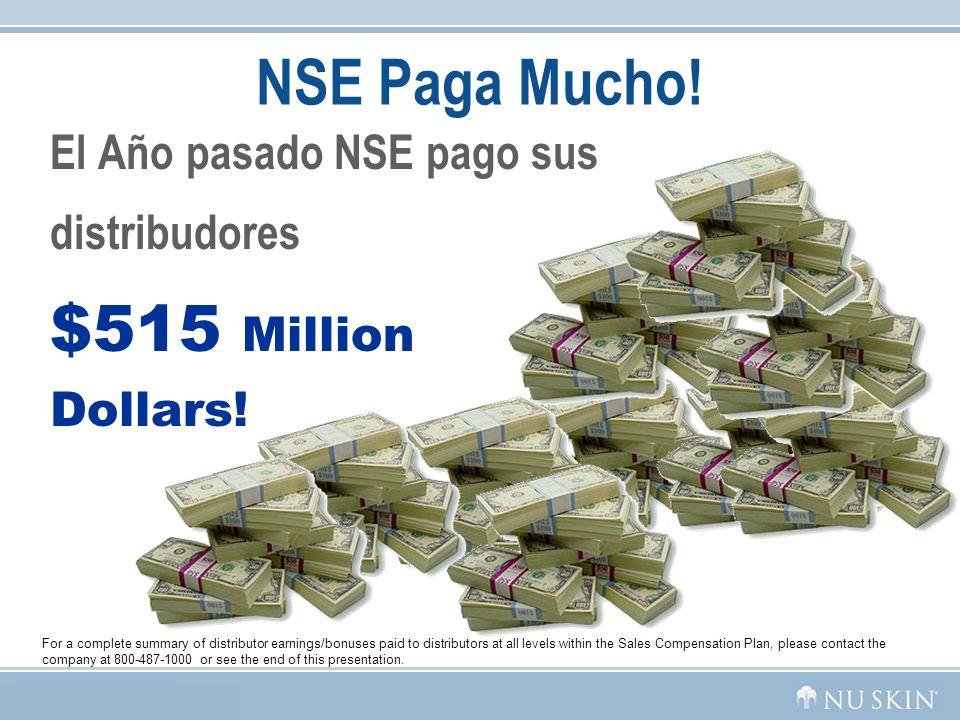 NSE Paga Mucho! $515 Million Dollars! El Año pasado NSE pago sus