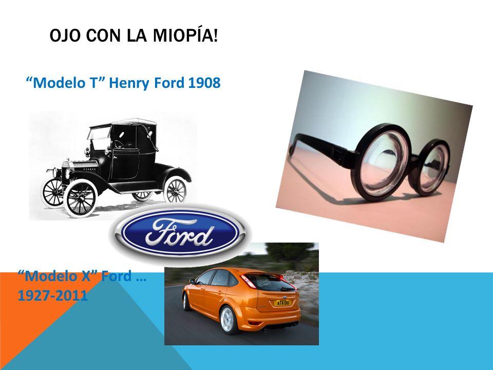 OJO con la Miopía! Modelo T Henry Ford 1908 Modelo X Ford …