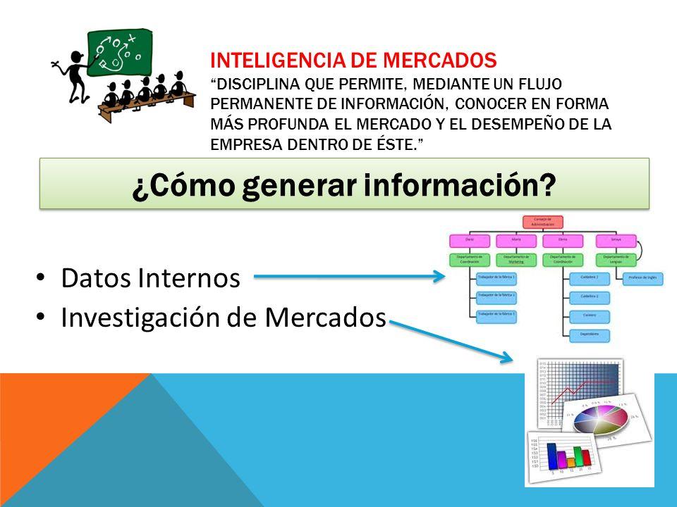 ¿Cómo generar información
