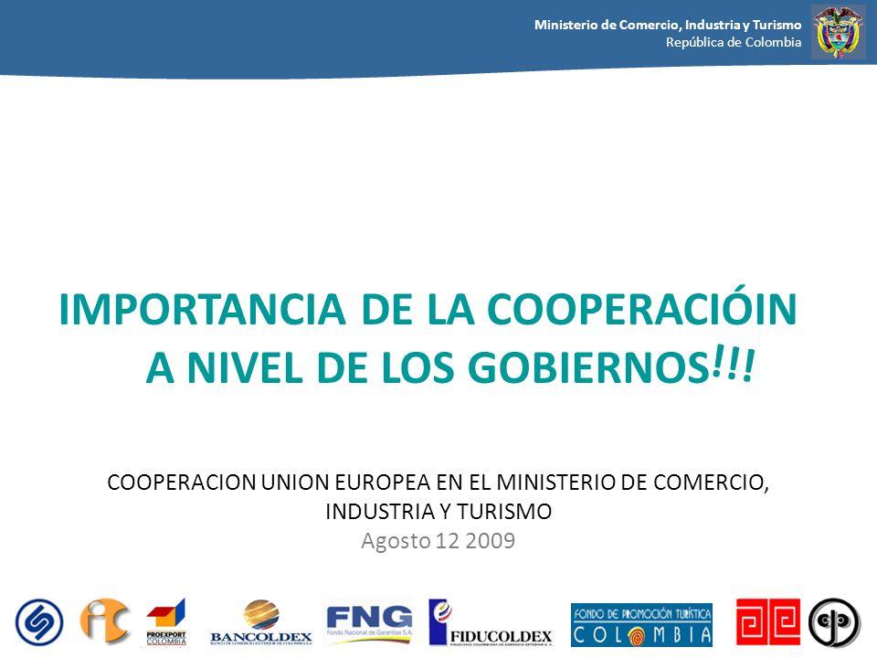 IMPORTANCIA DE LA COOPERACIÓIN A NIVEL DE LOS GOBIERNOS