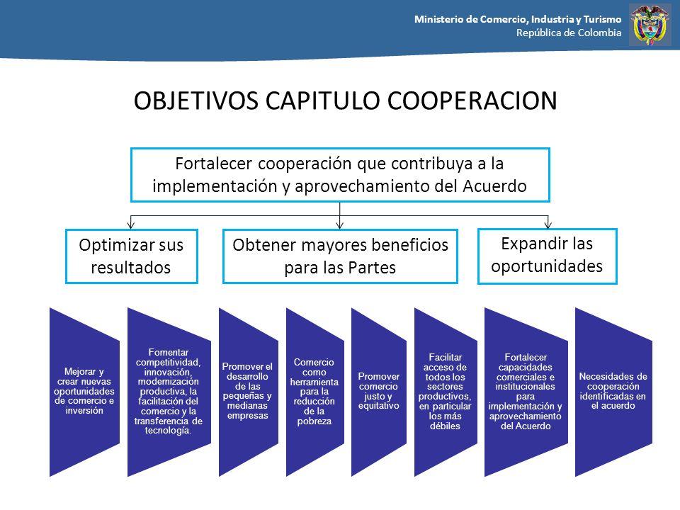 OBJETIVOS CAPITULO COOPERACION