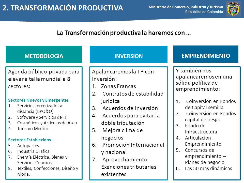 La Transformación productiva la haremos con …