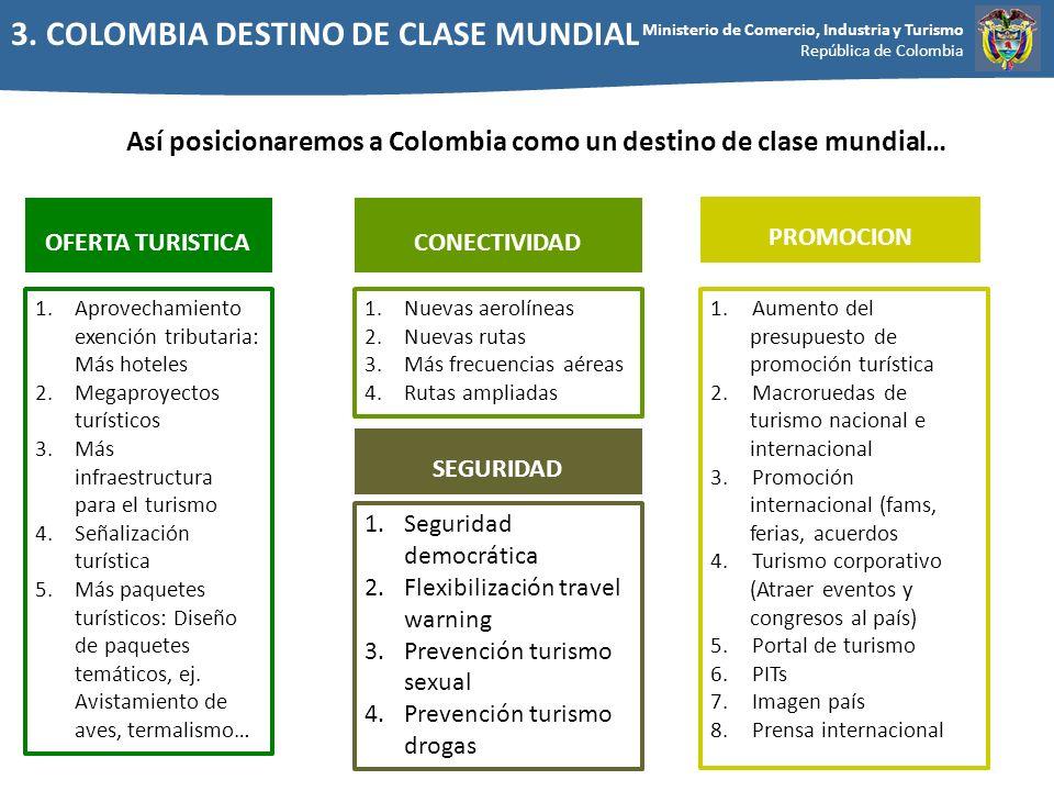 Así posicionaremos a Colombia como un destino de clase mundial…