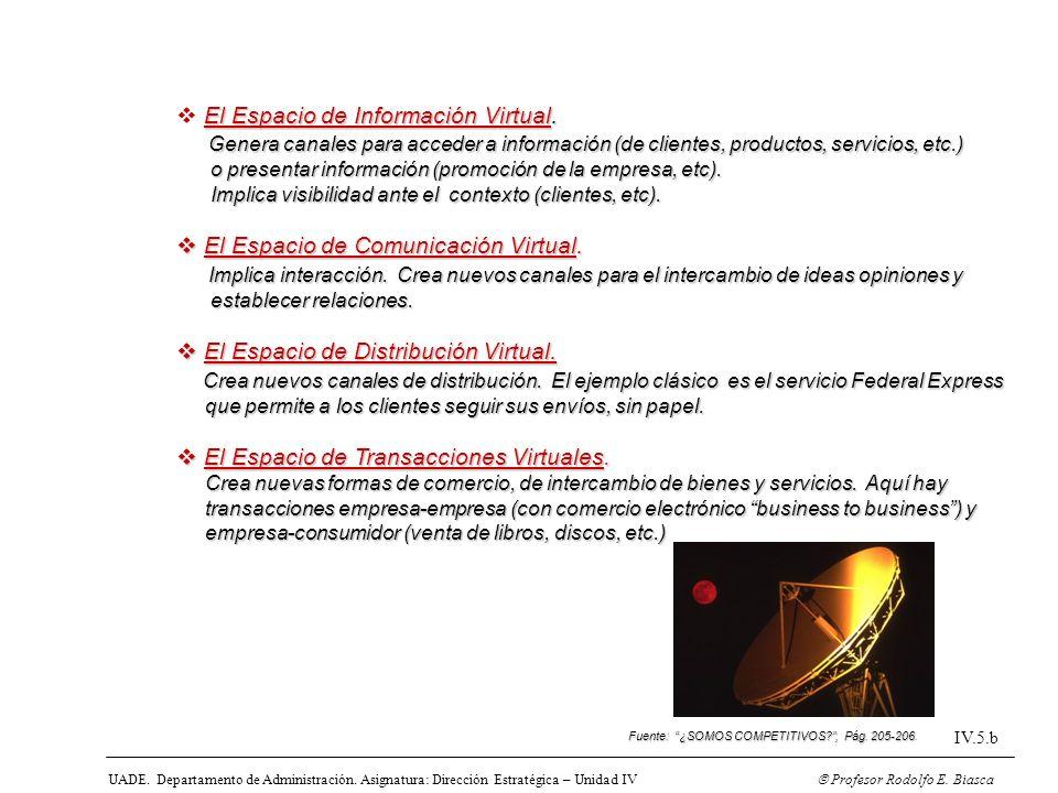 El Espacio de Información Virtual.