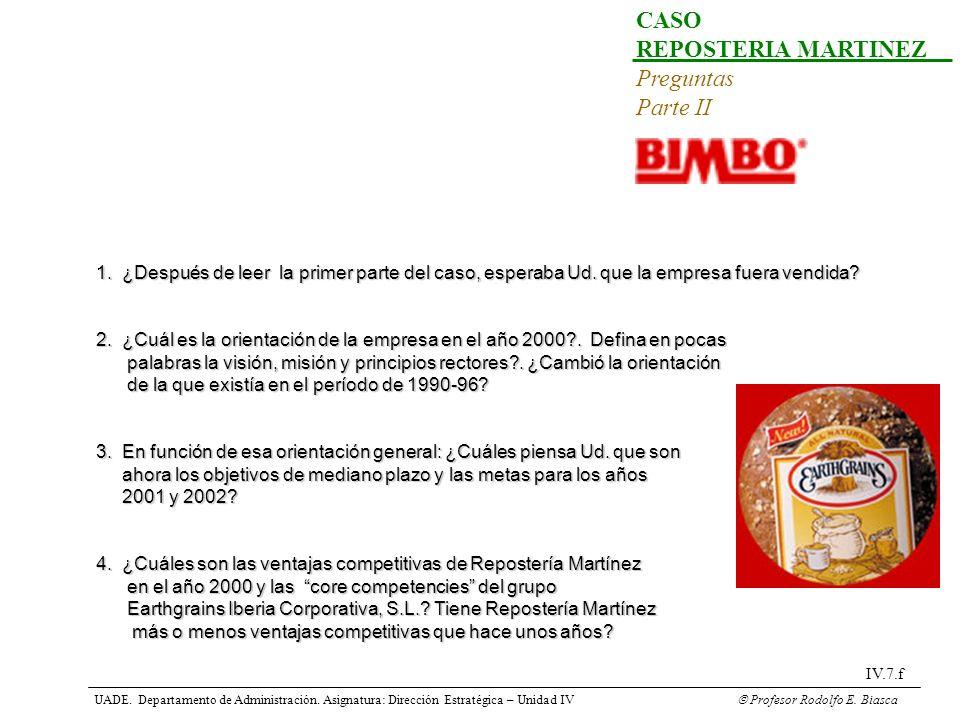 CASO REPOSTERIA MARTINEZ Preguntas Parte II