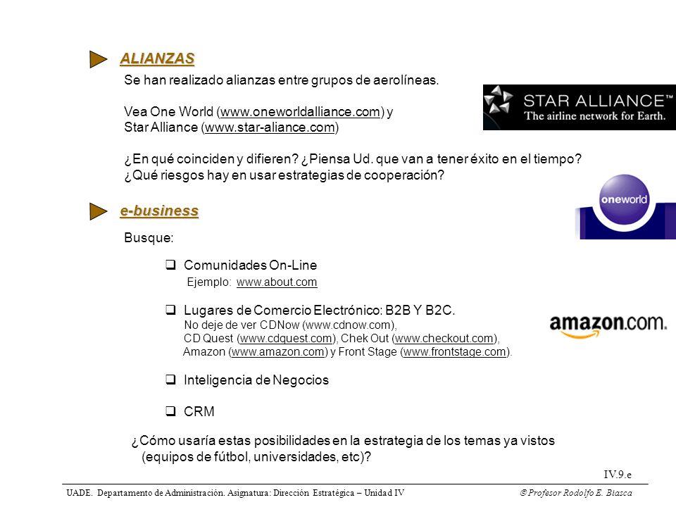 ALIANZAS Se han realizado alianzas entre grupos de aerolíneas. Vea One World (www.oneworldalliance.com) y.