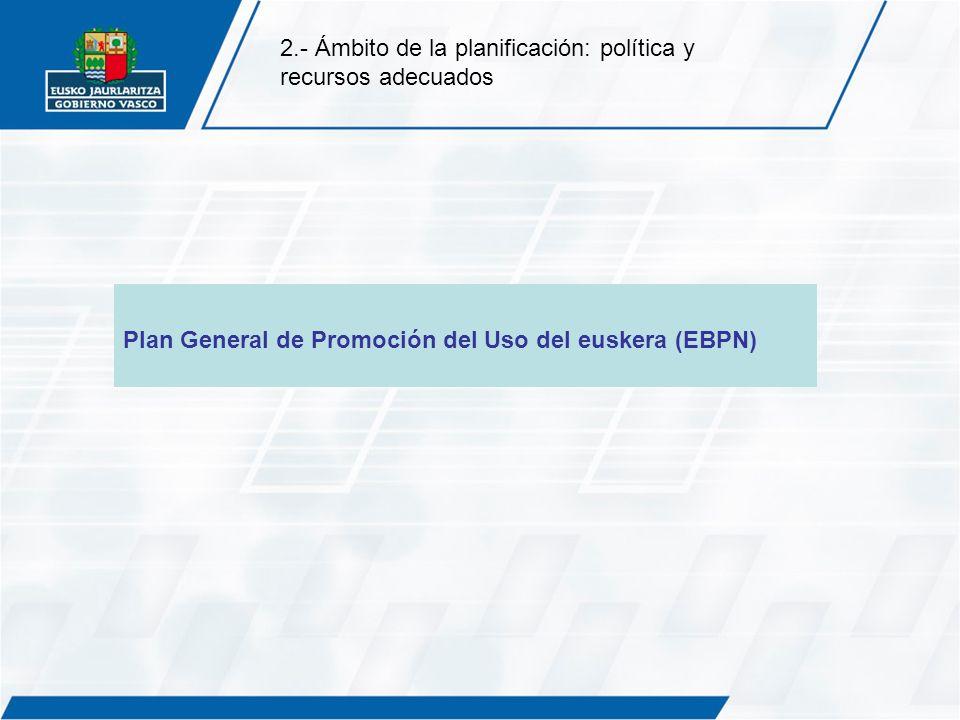2.- Ámbito de la planificación: política y recursos adecuados