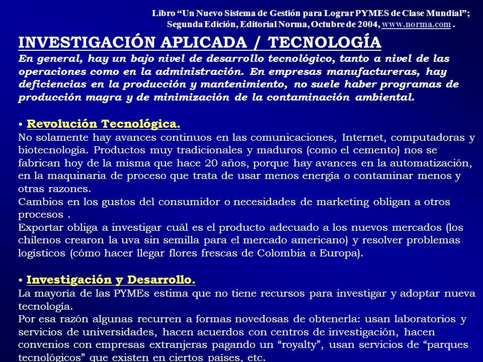 INVESTIGACIÓN APLICADA / TECNOLOGÍA