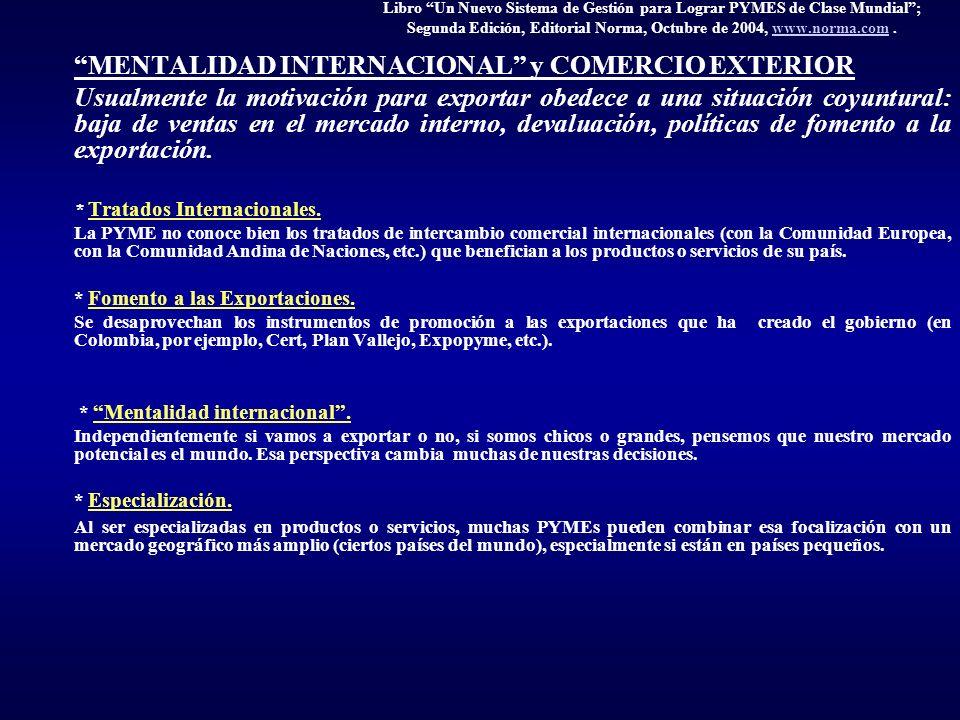 MENTALIDAD INTERNACIONAL y COMERCIO EXTERIOR