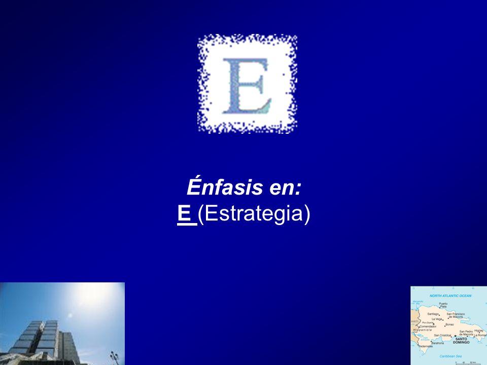 Énfasis en: E (Estrategia)