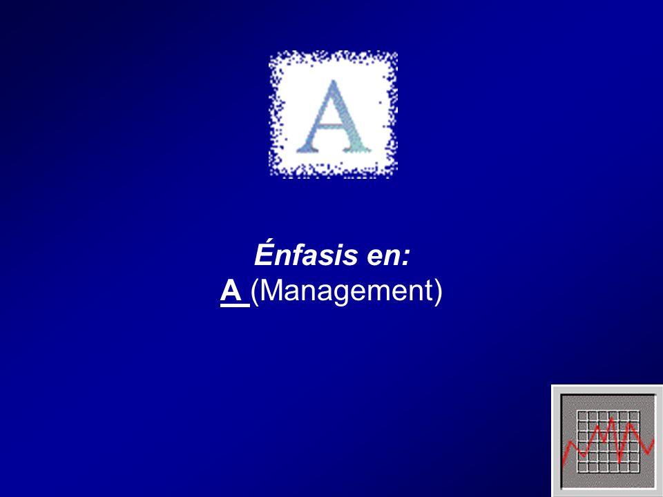 Énfasis en: A (Management)