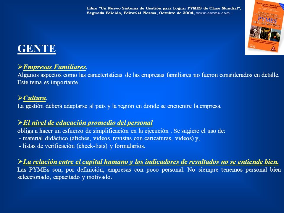 GENTE Empresas Familiares. Cultura.