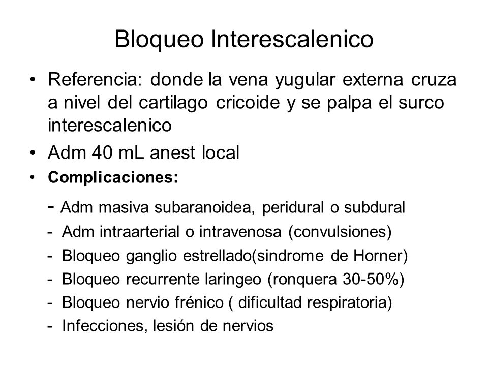 Bloqueo Interescalenico