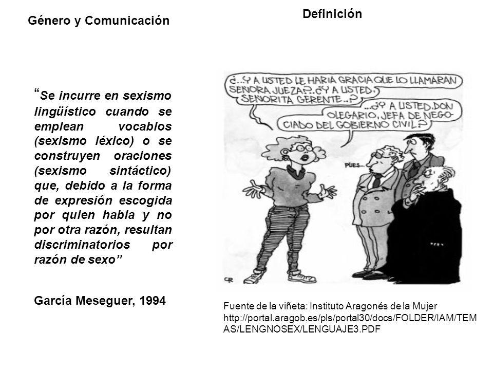 Definición Género y Comunicación.