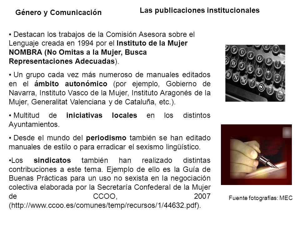 Las publicaciones institucionales