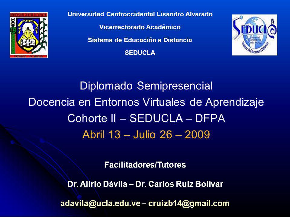 Diplomado Semipresencial Docencia en Entornos Virtuales de Aprendizaje